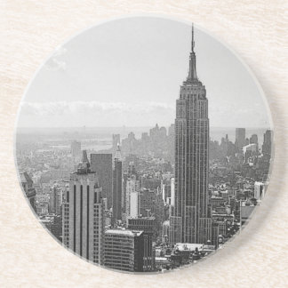 New York City negro y blanco Posavasos Diseño