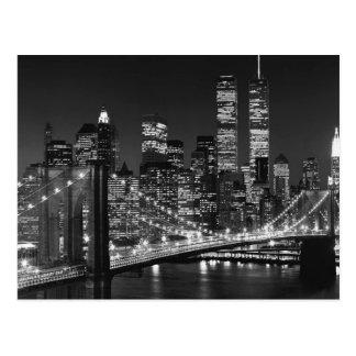 New York City negro y blanco Postales