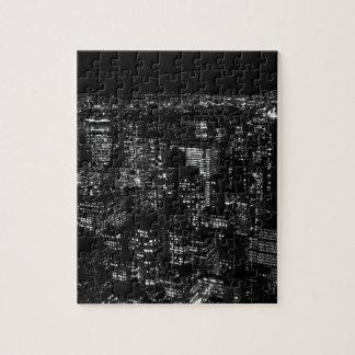 New York City negro y blanco Puzzle