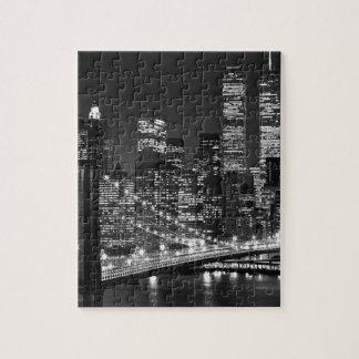 New York City negro y blanco Rompecabeza Con Fotos