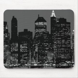 New York City negro y blanco Tapetes De Raton