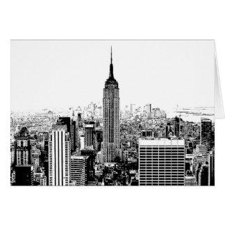 New York City negro y blanco Tarjeton