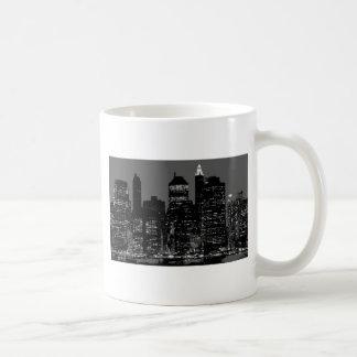 New York City negro y blanco Tazas