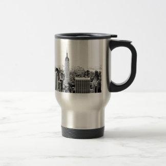 New York City negro y blanco Tazas De Café