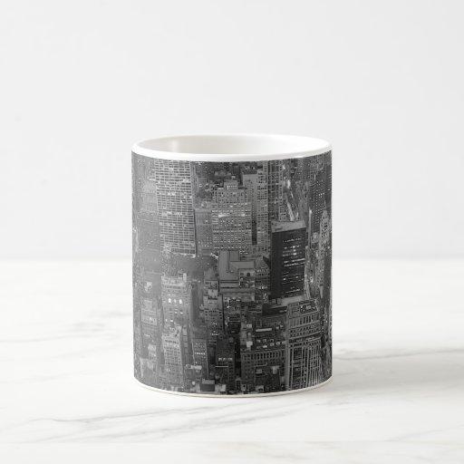New York City negro y blanco Taza De Café