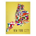 New York City Neighborhood Flags Postcards