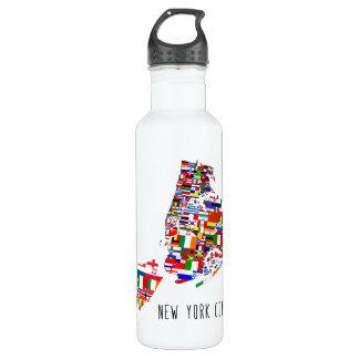 New York City Neighborhood Flags Stainless Steel Water Bottle