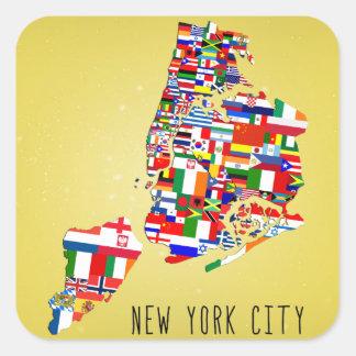 New York City Neighborhood Flags Stickers