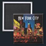 "New York City (Neon) Magnet<br><div class=""desc"">Night scene in Times Square</div>"