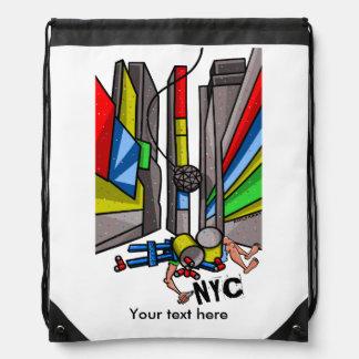 New York City  New Years Eve Drawstring Bag