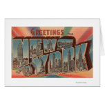New York City, New York - Large Letter Scenes 2 Greeting Card