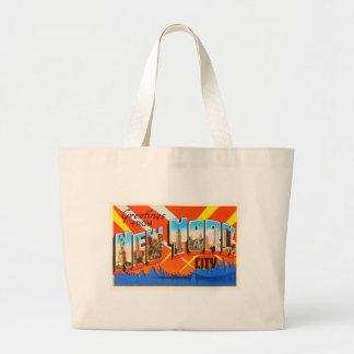 New York City New York NY Vintage Travel Souvenir Large Tote Bag