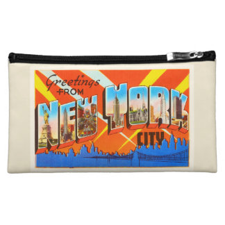 New York City New York NY Vintage Travel Souvenir Makeup Bag
