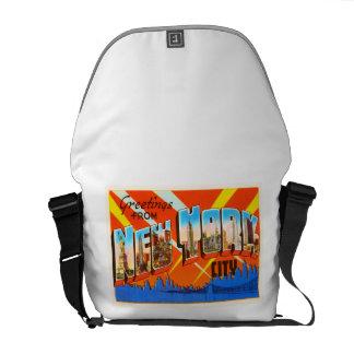 New York City New York NY Vintage Travel Souvenir Messenger Bag