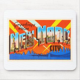 New York City New York NY Vintage Travel Souvenir Mouse Pad