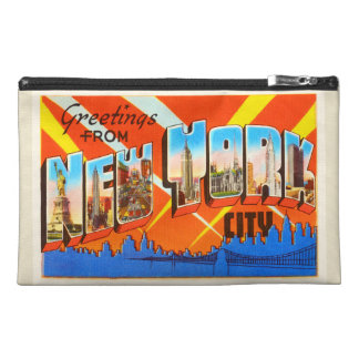 New York City New York NY Vintage Travel Souvenir Travel Accessory Bag