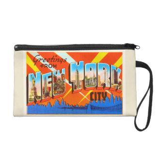 New York City New York NY Vintage Travel Souvenir Wristlet