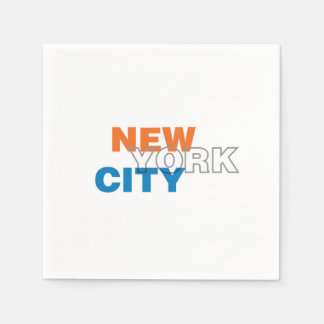 New York City, New York Paper Napkins