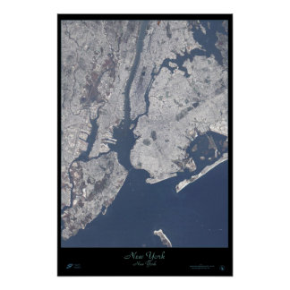 New York City, New York satellite poster