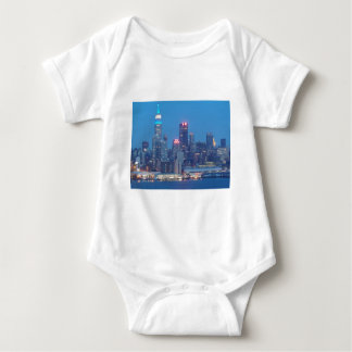 new york city night baby bodysuit