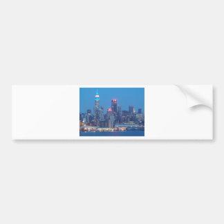 new york city night bumper sticker