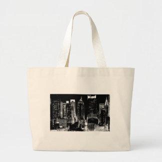 New York City Night Large Tote Bag