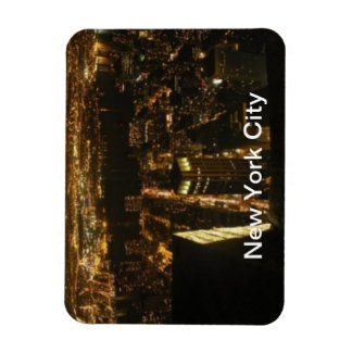 New York City/ Night Life Rectangular Photo Magnet