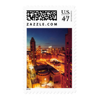 New York City night light stamp