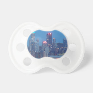 new york city night baby pacifier