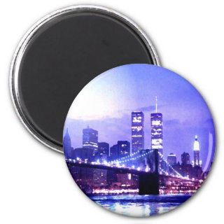 New York City Night Panorama Magnet