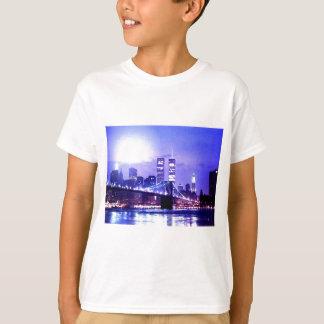 New York City Night Panorama T-Shirt