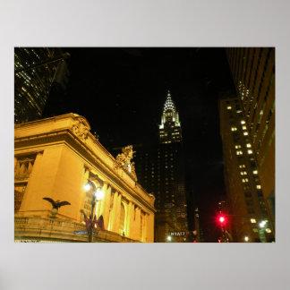 New York City Night Photo Poster
