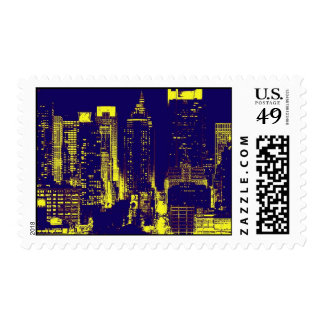 New York City Night Postage