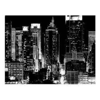 New York City Night Postcard