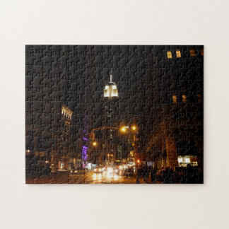 New York City Night Puzzle - Empire State Building