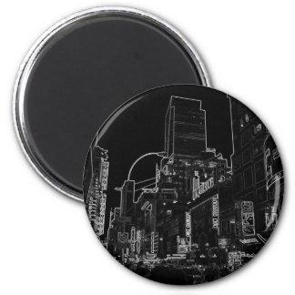 New York City Night Scenes IV - CricketDiane 2 Inch Round Magnet