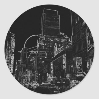 New York City Night Scenes IV - CricketDiane Classic Round Sticker