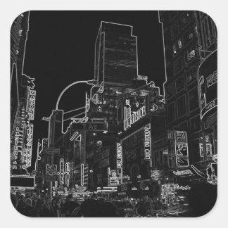 New York City Night Scenes IV - CricketDiane Square Sticker