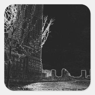 New York City Night Scenes VI  CricketDiane Art Square Sticker