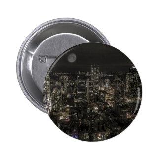 New York City Night Skyline Button