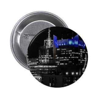New York City Night Skyline Pin