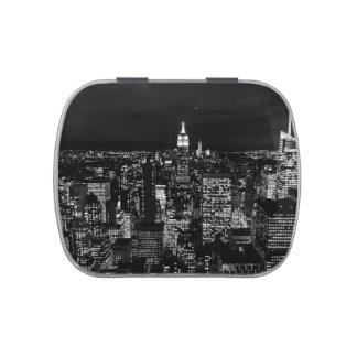 New York City night skyline Candy Tin