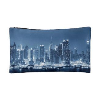 New-York City Night Skyline Cosmetic Bag