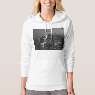 New York City night skyline Hoodie