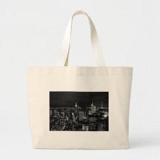 New York City Night Skyline Jumbo Tote Bag