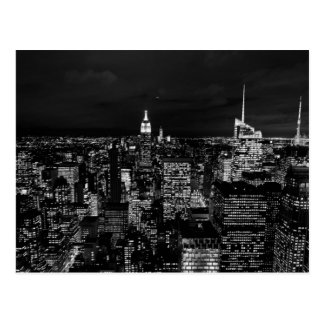 New York City Night Skyline Postcard