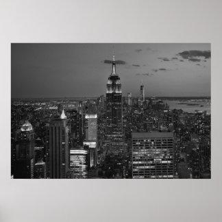 New York City night skyline Poster