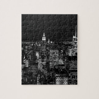 New York City Night Skyline Jigsaw Puzzle