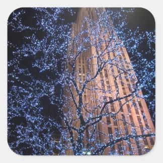 New York City Night Walk CricketDiane Square Sticker
