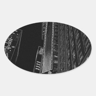 New York City Nights WalkAbout Photo Art Oval Sticker